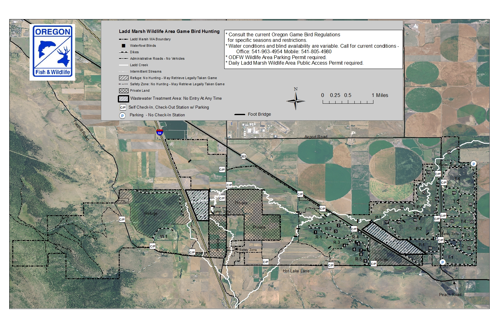 Game Bird Hunting Areas Map   Friends of Ladd Marsh